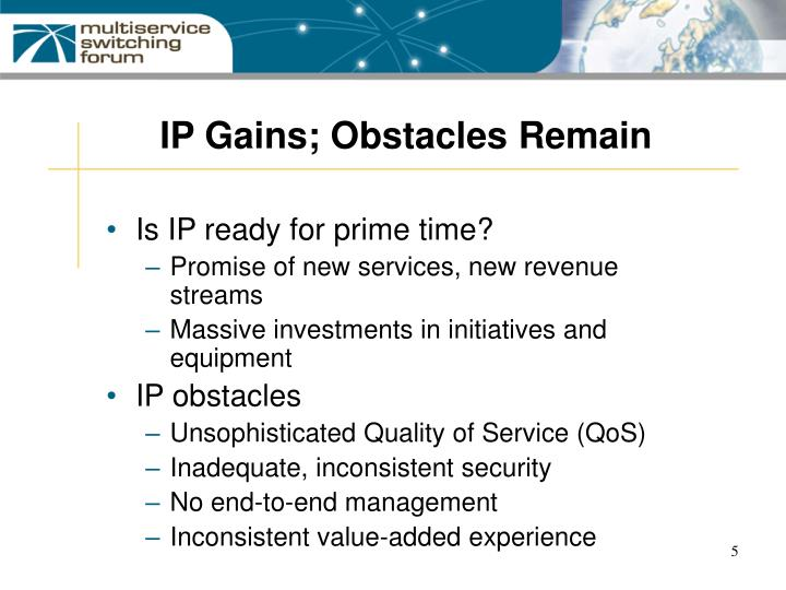 IP Gains; Obstacles Remain