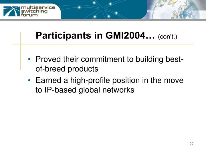 Participants in GMI2004…