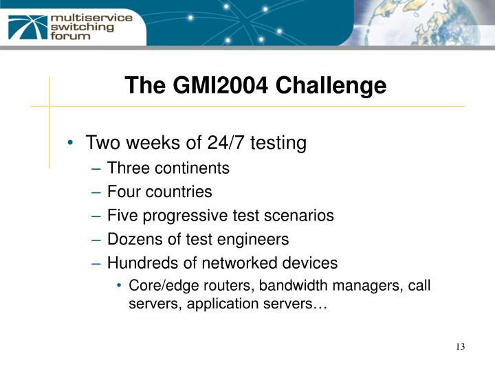 The GMI2004 Challenge