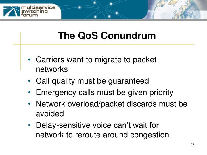 The QoS Conundrum