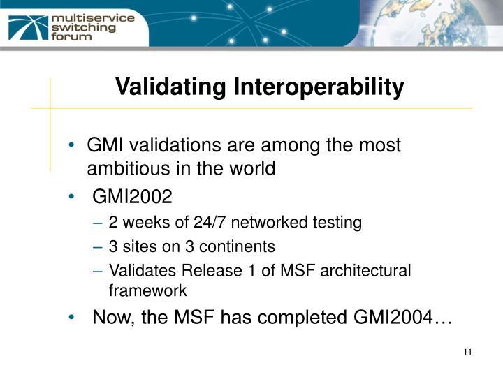 Validating Interoperability