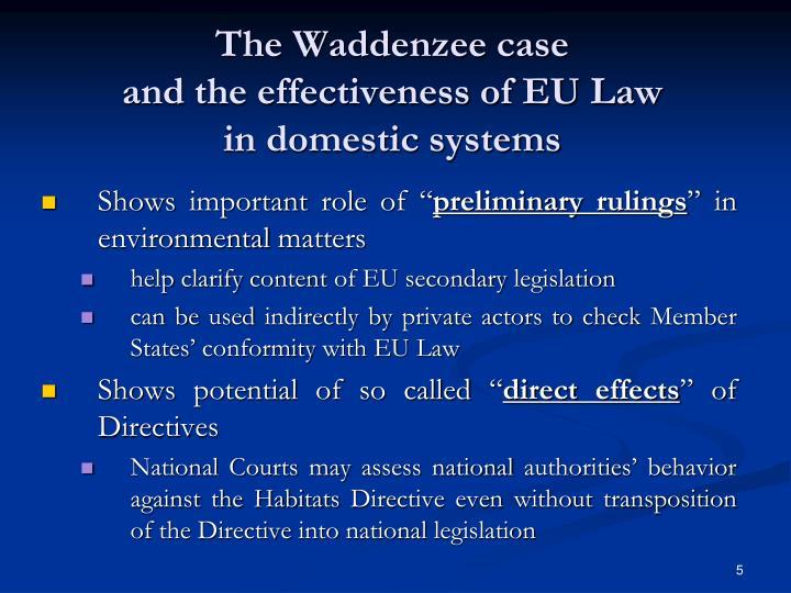 The Waddenzee case