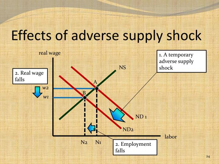 Effects of adverse supply shock