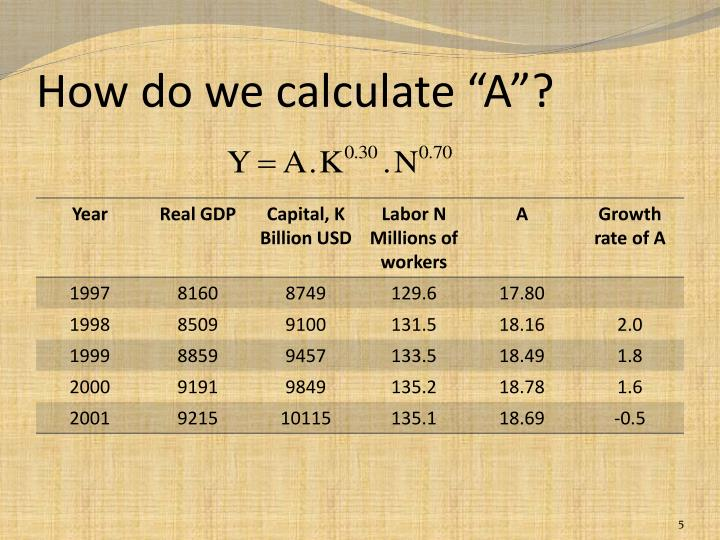 "How do we calculate ""A""?"