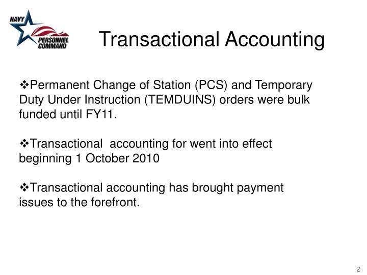 Transactional Accounting