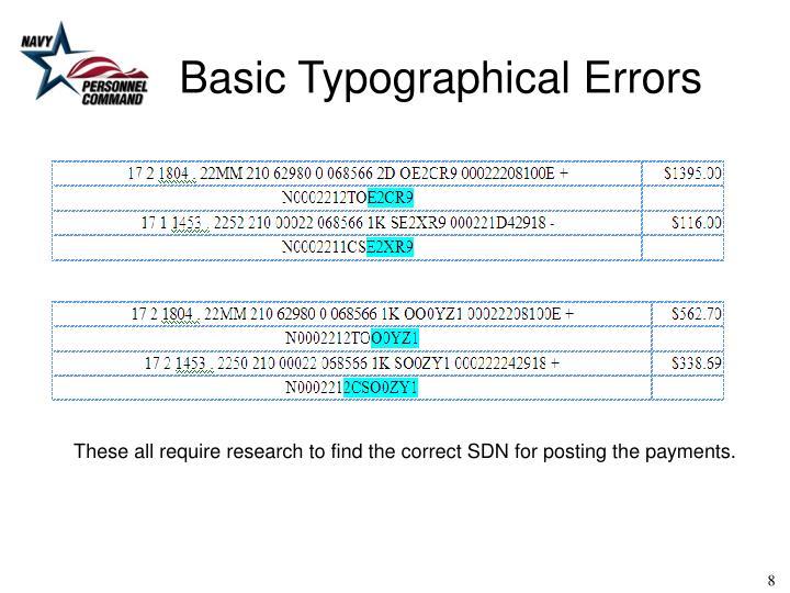 Basic Typographical Errors