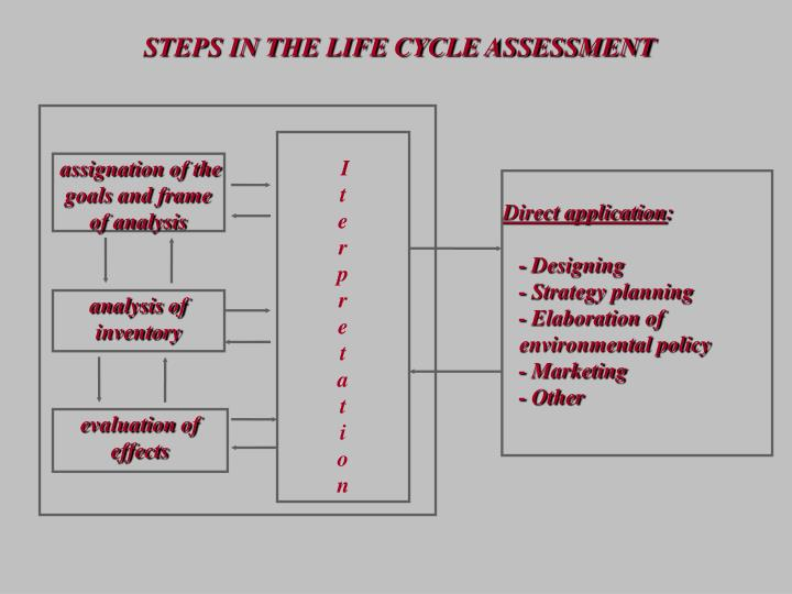 STEPS IN THE LIFE CYCLE ASSESSMENT