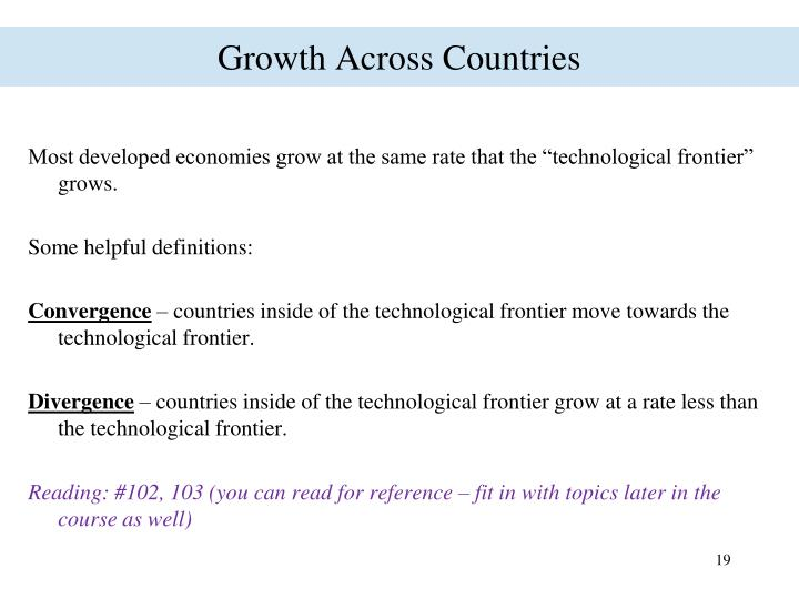 Growth Across Countries