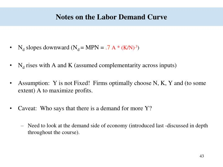 Notes on the Labor Demand Curve