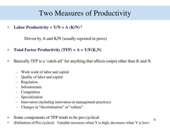 Two Measures of Productivity
