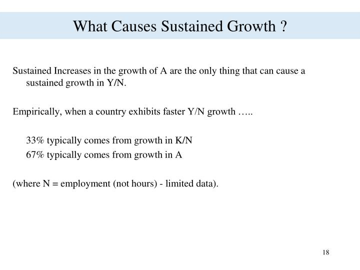 What Causes Sustained Growth ?