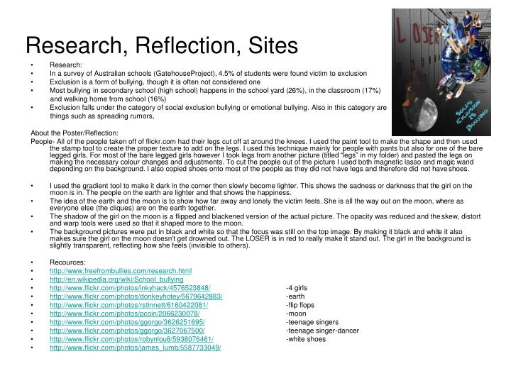 Research, Reflection, Sites