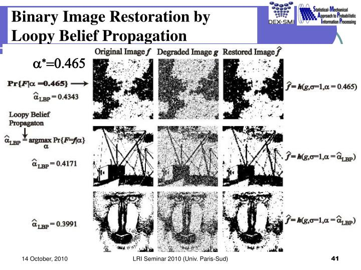 Binary Image Restoration by