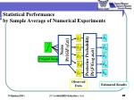 statistical performance by sample average of numerical experiments2