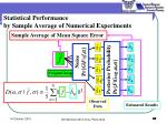 statistical performance by sample average of numerical experiments4