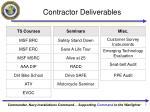 contractor deliverables