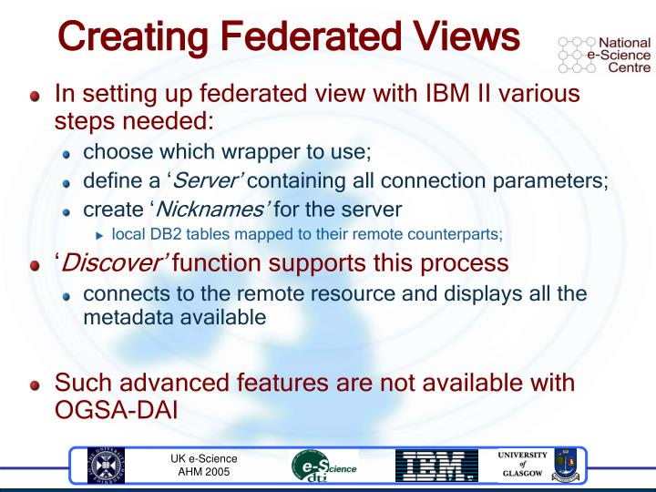 Creating Federated Views