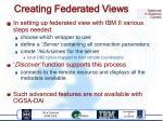 creating federated views
