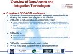 overview of data access and integration technologies1