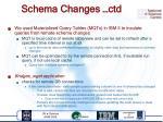 schema changes ctd