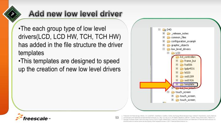 Add new low level driver