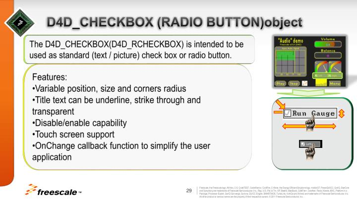 D4D_CHECKBOX (RADIO BUTTON)object