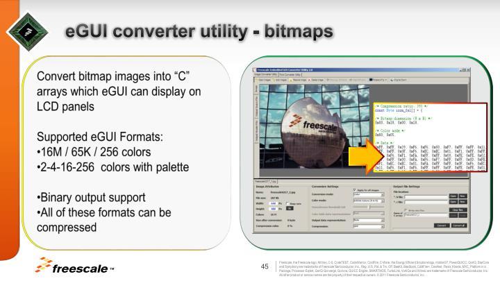 eGUI converter utility - bitmaps