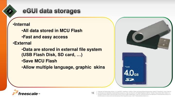 eGUI data storages
