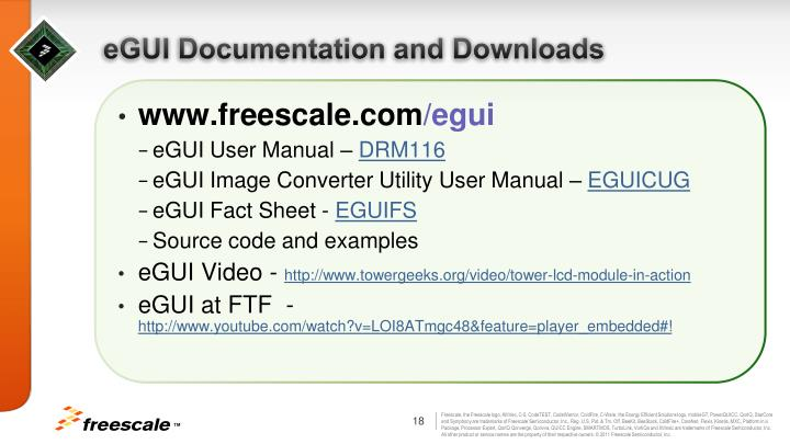 eGUI Documentation and Downloads
