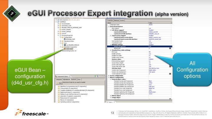 eGUI Processor Expert integration