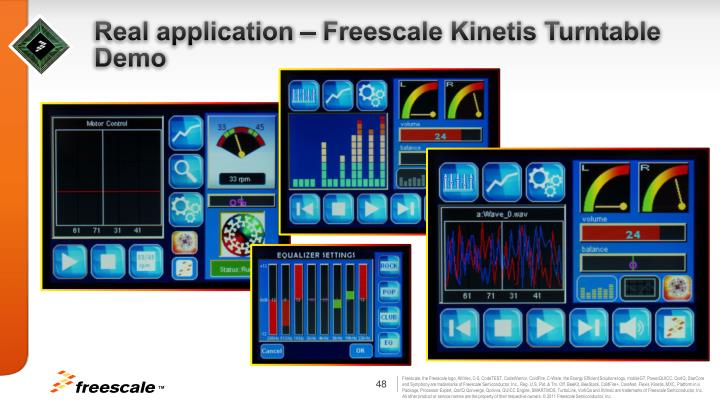 Real application – Freescale Kinetis Turntable Demo