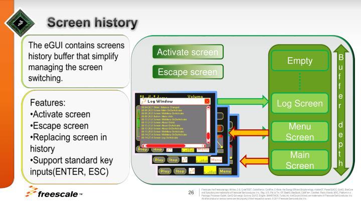 Screen history