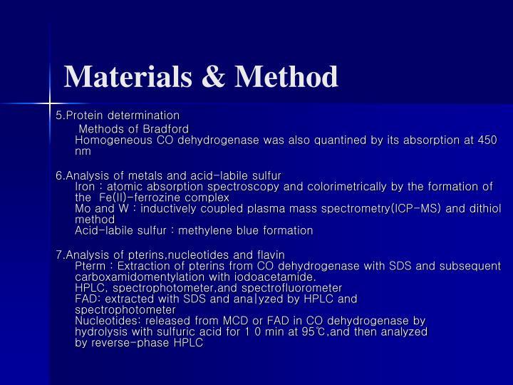 Materials & Method
