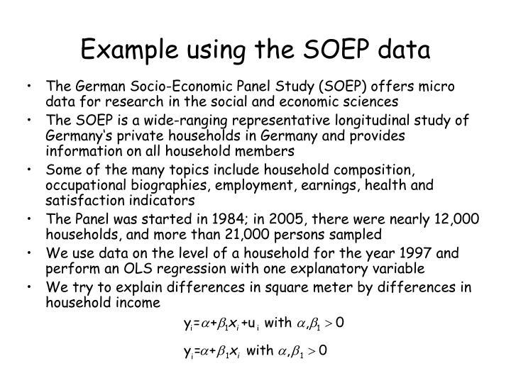 Example using the SOEP data