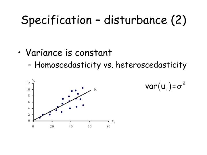 Specification – disturbance (2)