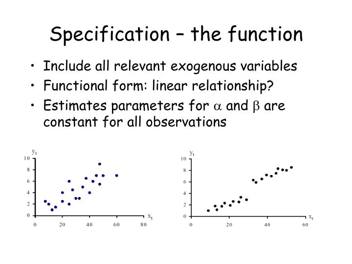 Specification – the function