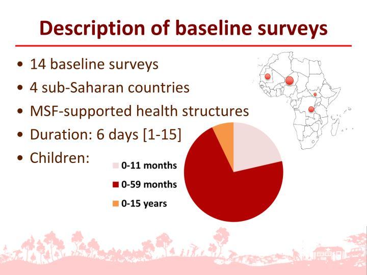 Description of baseline surveys