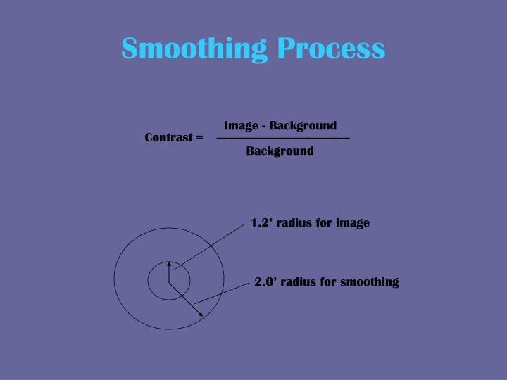 Smoothing Process