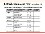 b dead animals and meat continued1