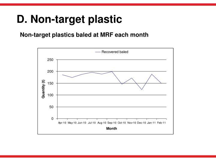 D. Non-target plastic