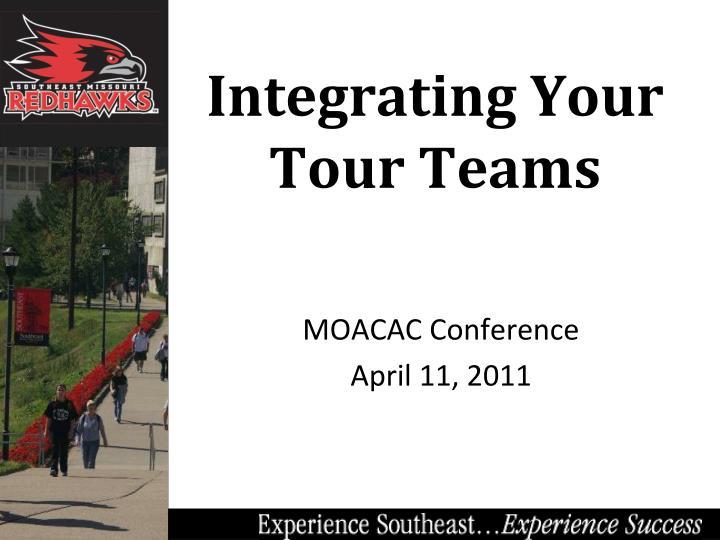 integrating your tour teams
