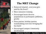 the mrt change