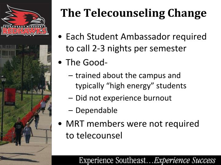 Each Student Ambassador required to call 2-3 nights per semester