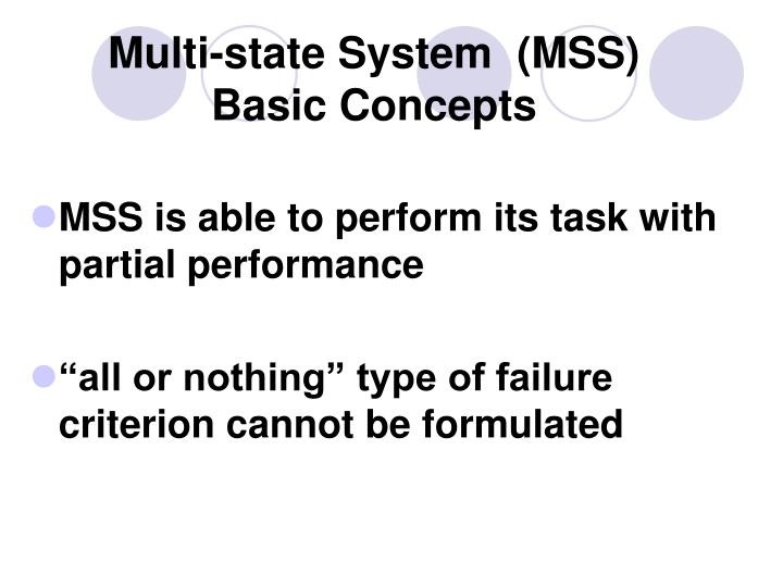 Multi-state System  (MSS)