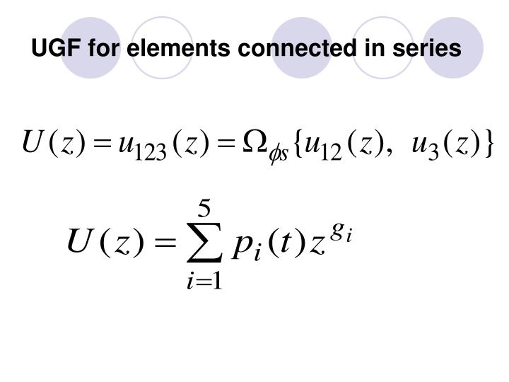 UGF for elements connected in series