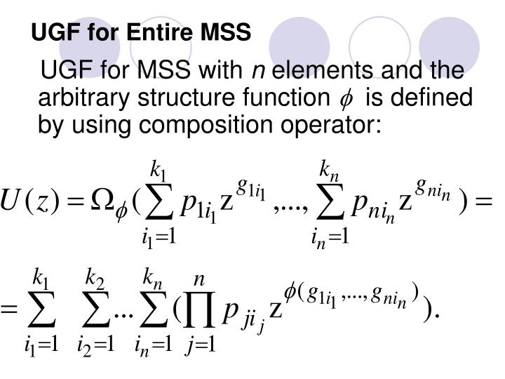 UGF for Entire MSS
