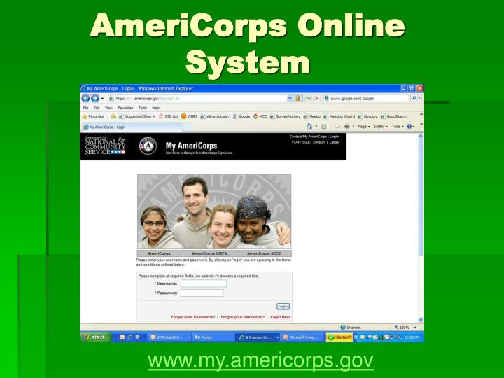 AmeriCorps Online System