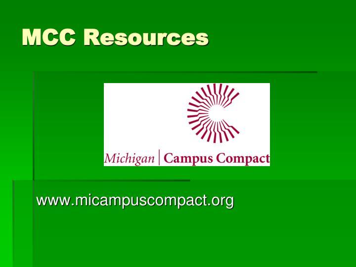 MCC Resources