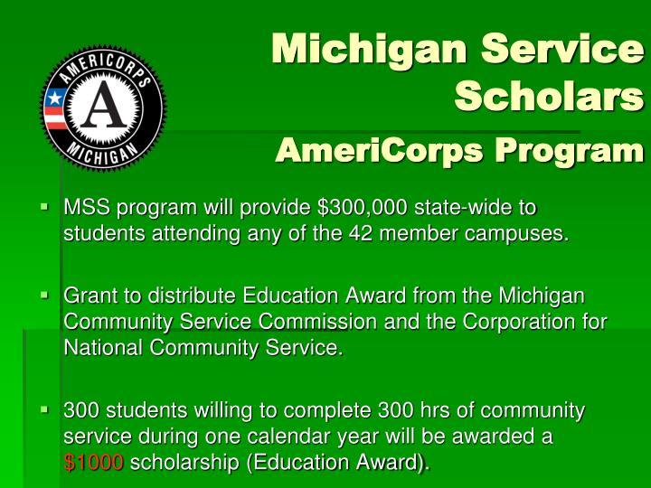 Michigan Service Scholars