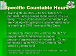 specific countable hours